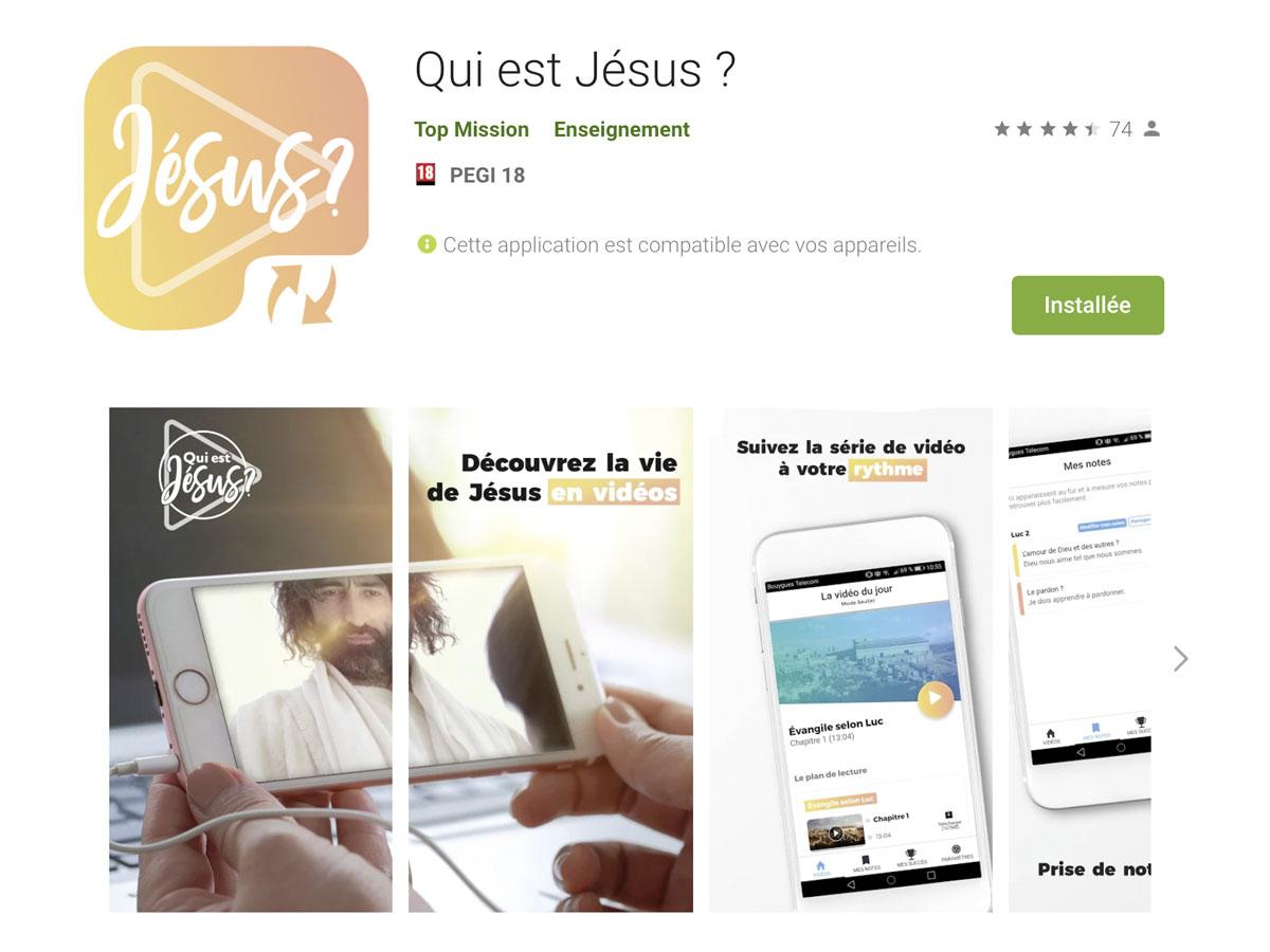 L'application «Qui est Jésus?»