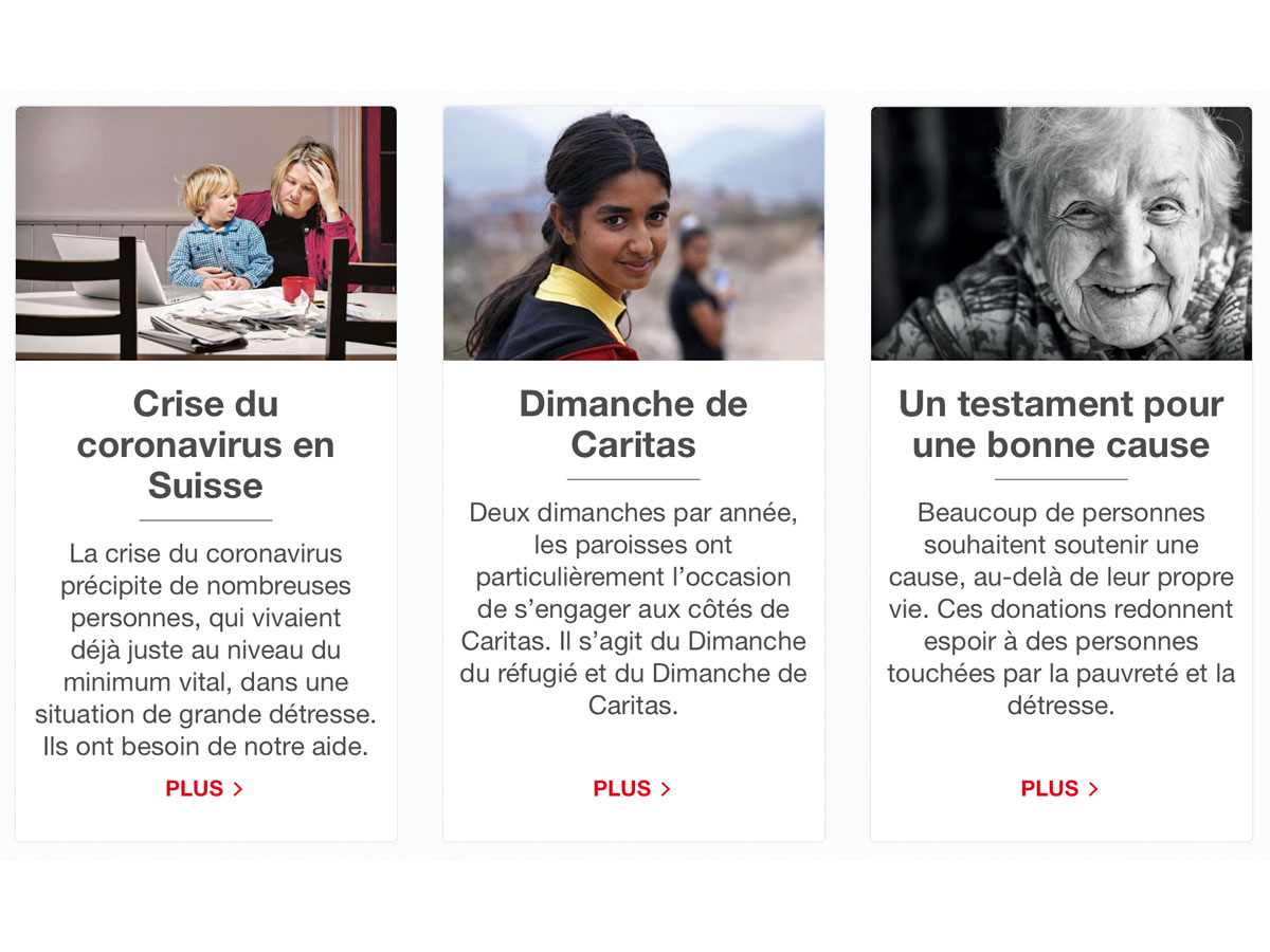Caritas, plus  présente que jamais!